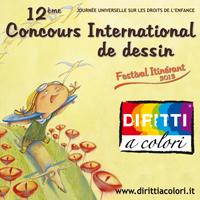 Bannièr 12ème Édition 2013 - Concours International de Dessin Droits aux couleurs 200x200