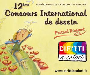 Bannièr 12ème Édition 2013 - Concours International de Dessin Droits aux Couleurs 300x250
