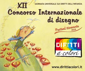 Banner 12° Edizione 2013 - Concorso Internazionale di Disegno Diritti a colori 300x250