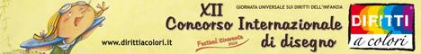 Banner 12° Edizione 2013 - Concorso Internazionale di Disegno Diritti a colori 468x60