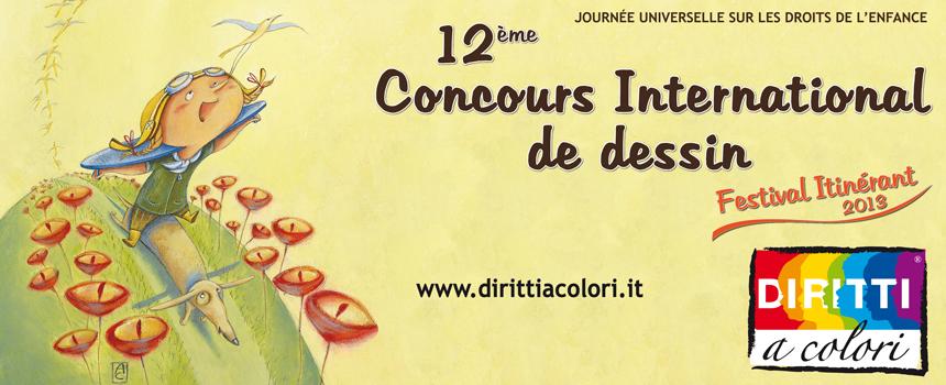 Bannièr 12ème Édition 2013 - Concours International de Dessin Droits aux couleurs 860x350