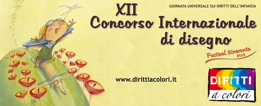 Banner 12° Edizione 2013 - Concorso Internazionale di Disegno Diritti a colori 860x350