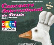 Banner 11eme Edition 2012 - Concours International de Dessin Droits aux Couleurs 180x150