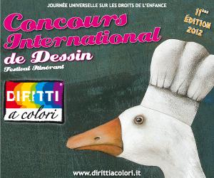 Banner 11eme Edition 2012 - Concours International de Dessin Droits aux Couleurs 300x250