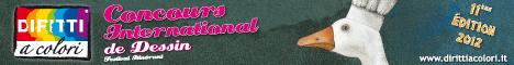 Banner 11eme Edition 2012 - Concours International de Dessin Droits aux Couleurs 468x60