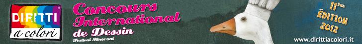 Banner 11eme Edition 2012 - Concours International de Dessin Droits aux Couleurs 728x90