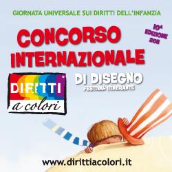 Banner 10° Edizione 2011 - Concorso Internazionale di Disegno Diritti a Colori 250x250