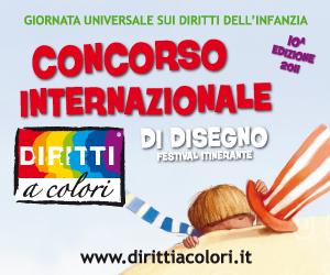 Banner 10° Edizione 2011 - Concorso Internazionale di Disegno Diritti a Colori 300x250