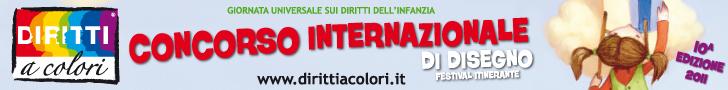 Banner 10° Edizione 2011 - Concorso Internazionale di Disegno Diritti a Colori 728x90